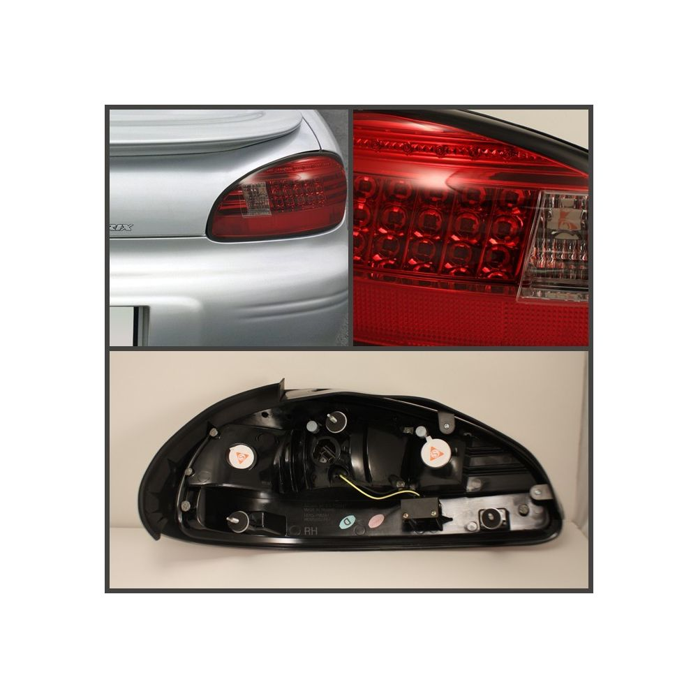 Spyder Auto ® - Red Clear LED Tail Lights (5007162)
