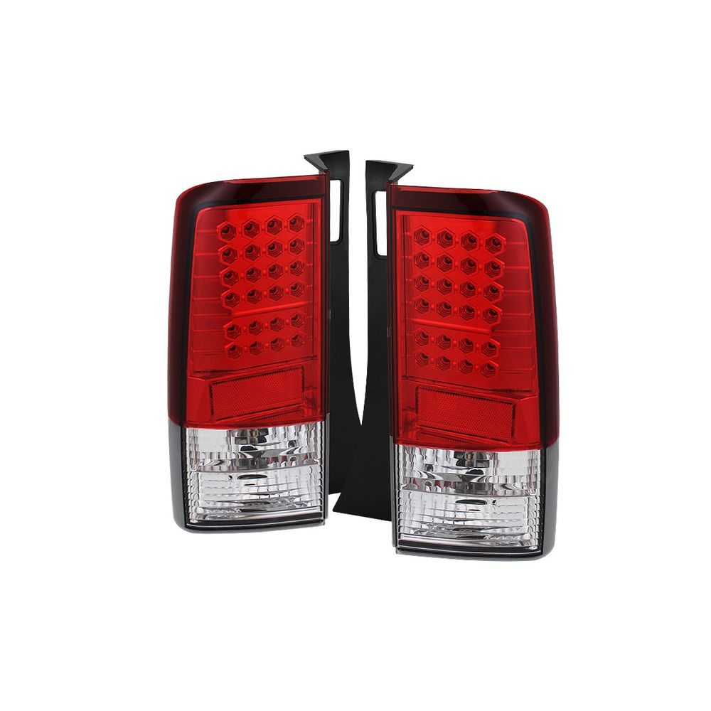 Spyder Auto ® - Red Clear LED Tail Lights (5007773)