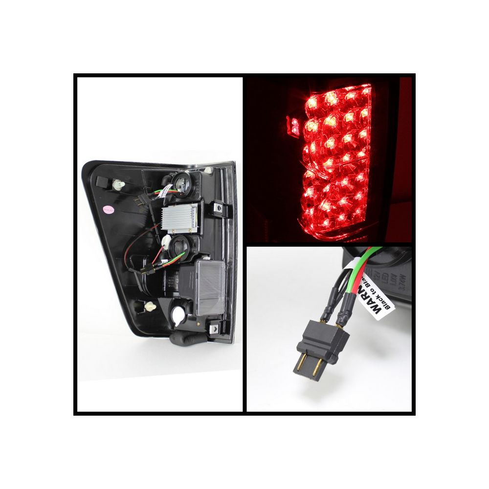 Spyder Auto ® - Red Clear LED Tail Lights (5070074)