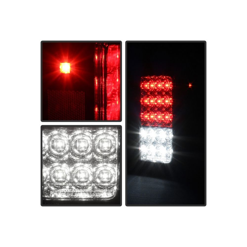 Spyder Auto ® - Red Clear LED Tail Lights (5070401)