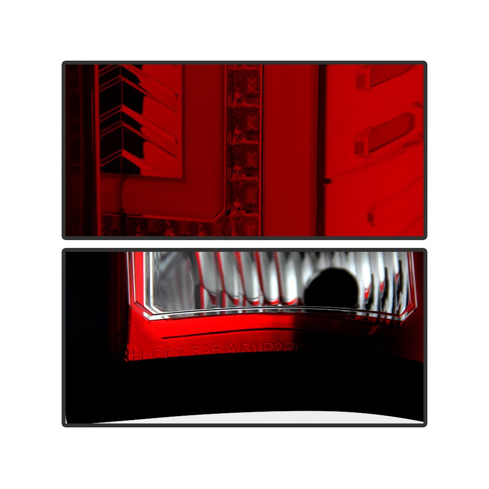 Spyder Auto ® - Red Clear LED Tail Lights (5080677)