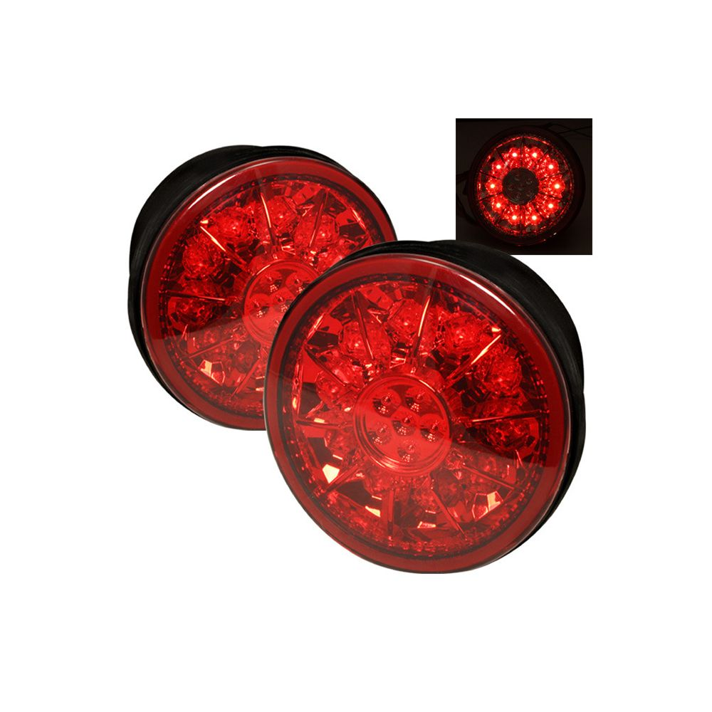 Spyder Auto ® - Red Clear LED Trunk Tail Lights (5005861)