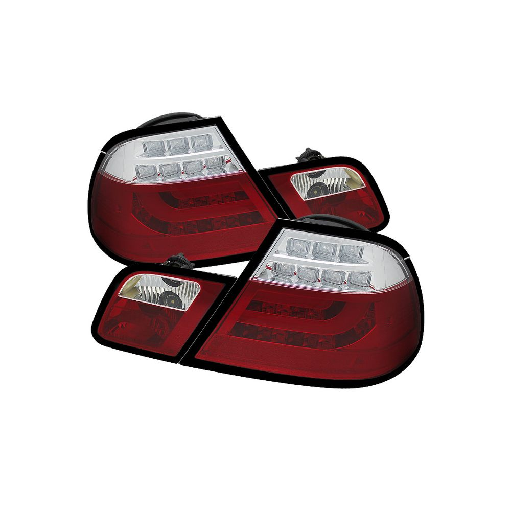 Spyder Auto ® - Red Clear Light Bar LED Tail Lights (5073822)