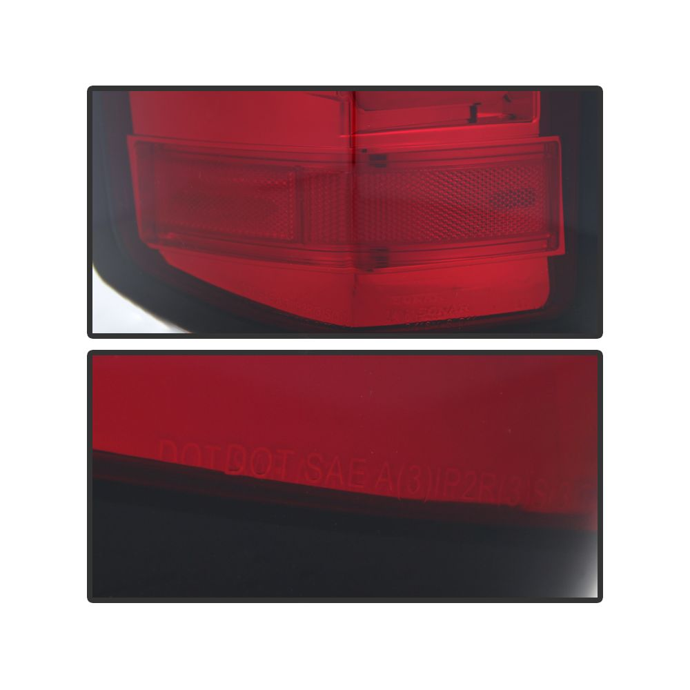 Spyder Auto ® - Red Clear Light Bar LED Tail Lights (5080011)