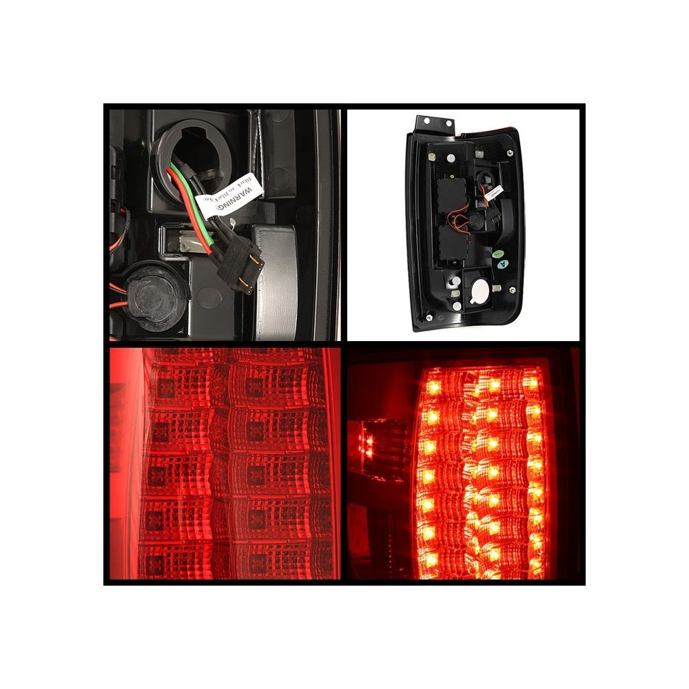 Spyder Auto ® - Red Clear Version 2 LED Tail Lights (5002877)