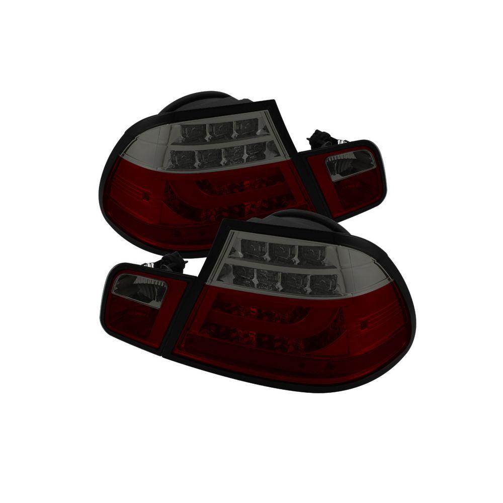 Spyder Auto ® - Red Smoke Light Bar Style LED Tail Lights (5076540)
