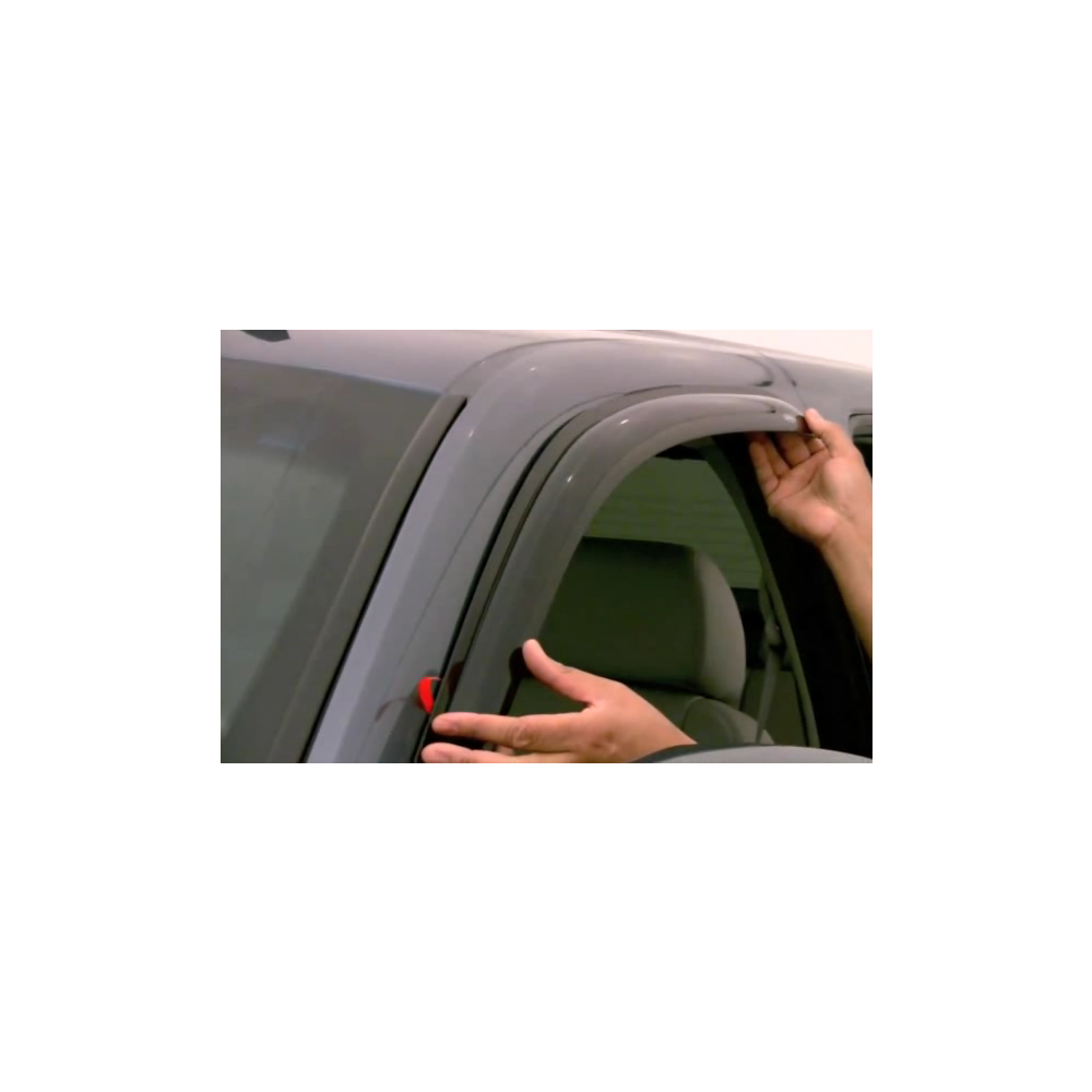 Black Horse Off Road ® - Smoke Rain Guards (14-94073)