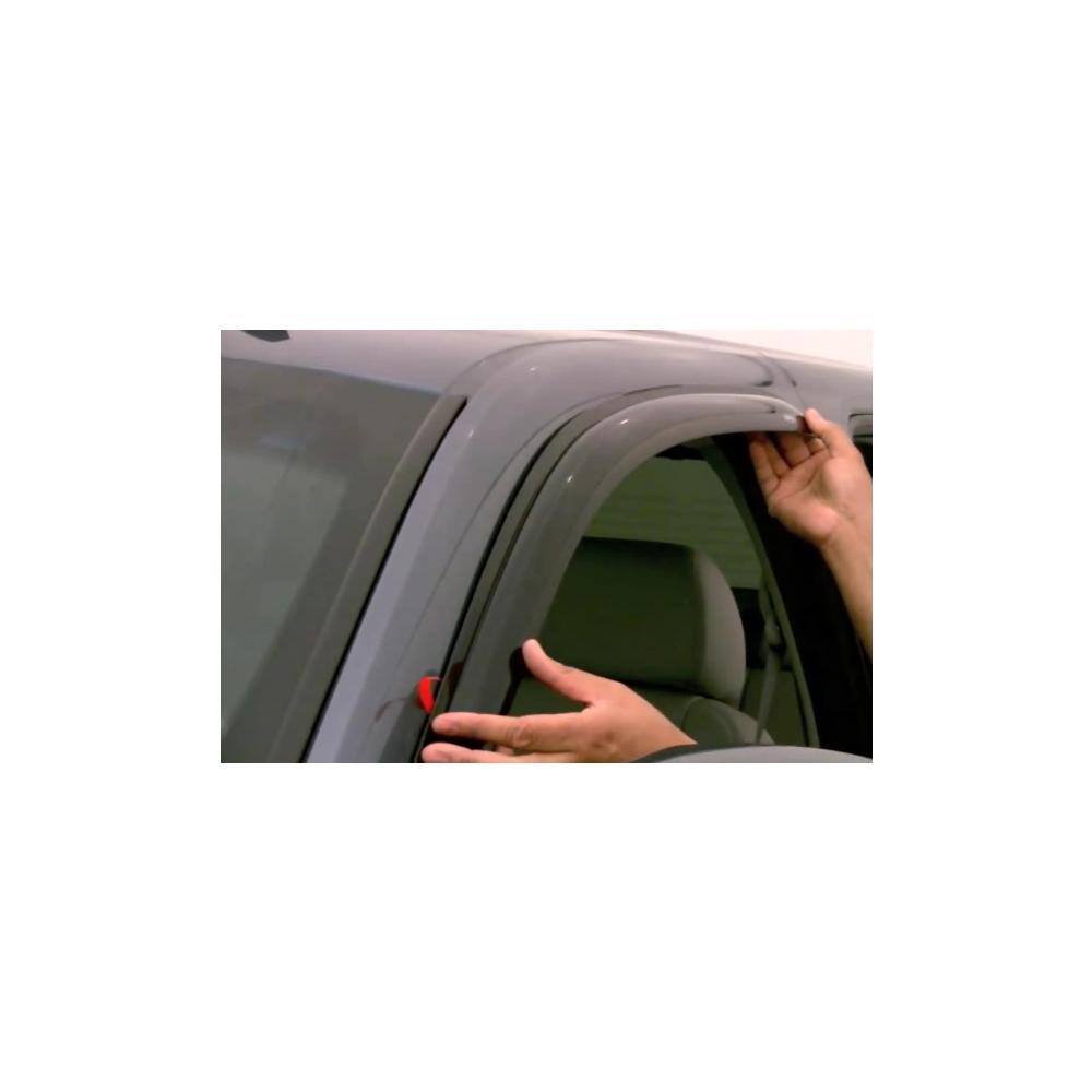 Black Horse Off Road ® - Chrome Rain Guards (241535)
