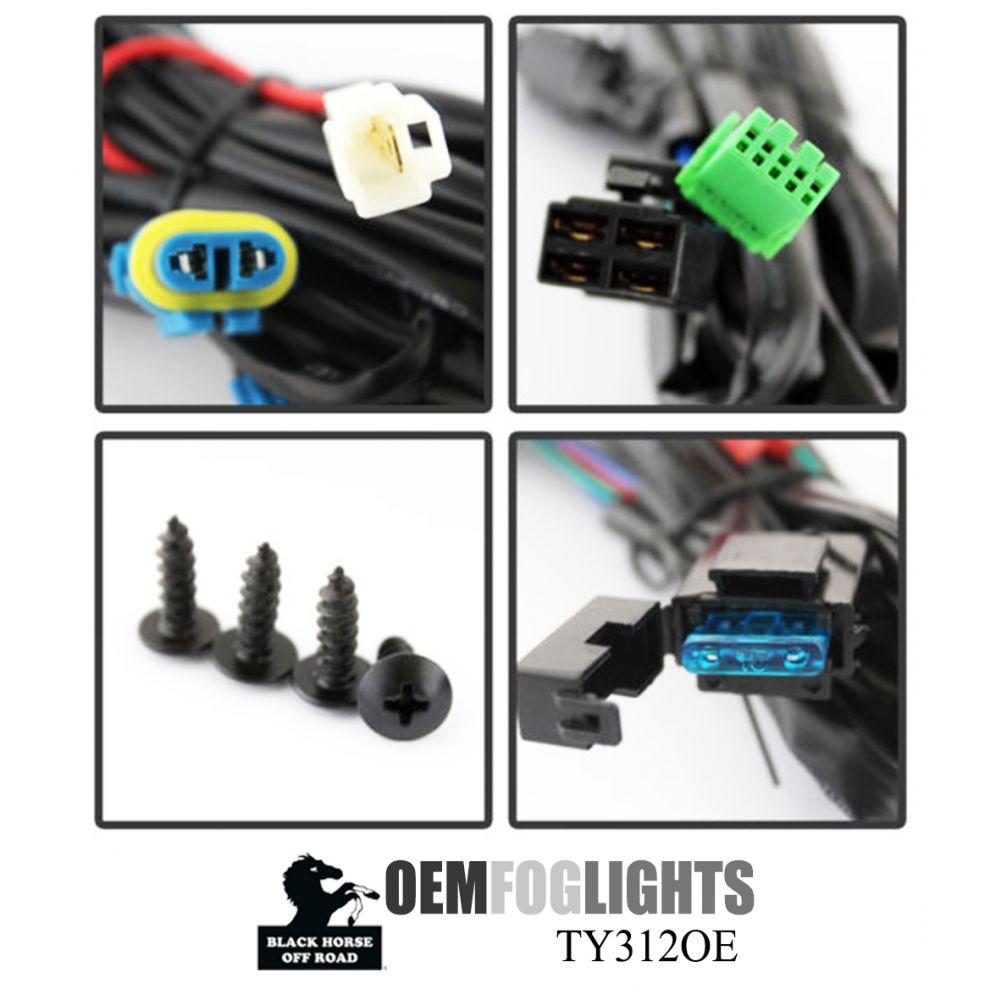 Black Horse Off Road ® - OEM Replica Clear Fog Lights (TY312OE)