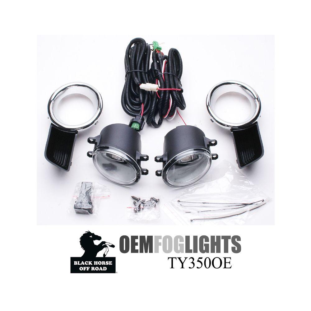 Black Horse Off Road ® - OEM Replica Clear Fog Lights (TY350OE)