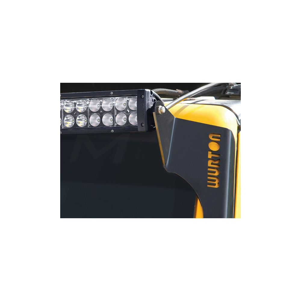 Wurton ® - Jeep JK 50 Inch Light Bar Windshield Brackets (86510)