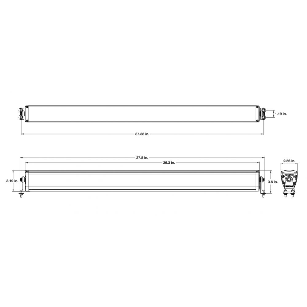Wurton ® - 36 Inch 10 Watt High Performance Combo Beam LED Light Bar Kit (21363)