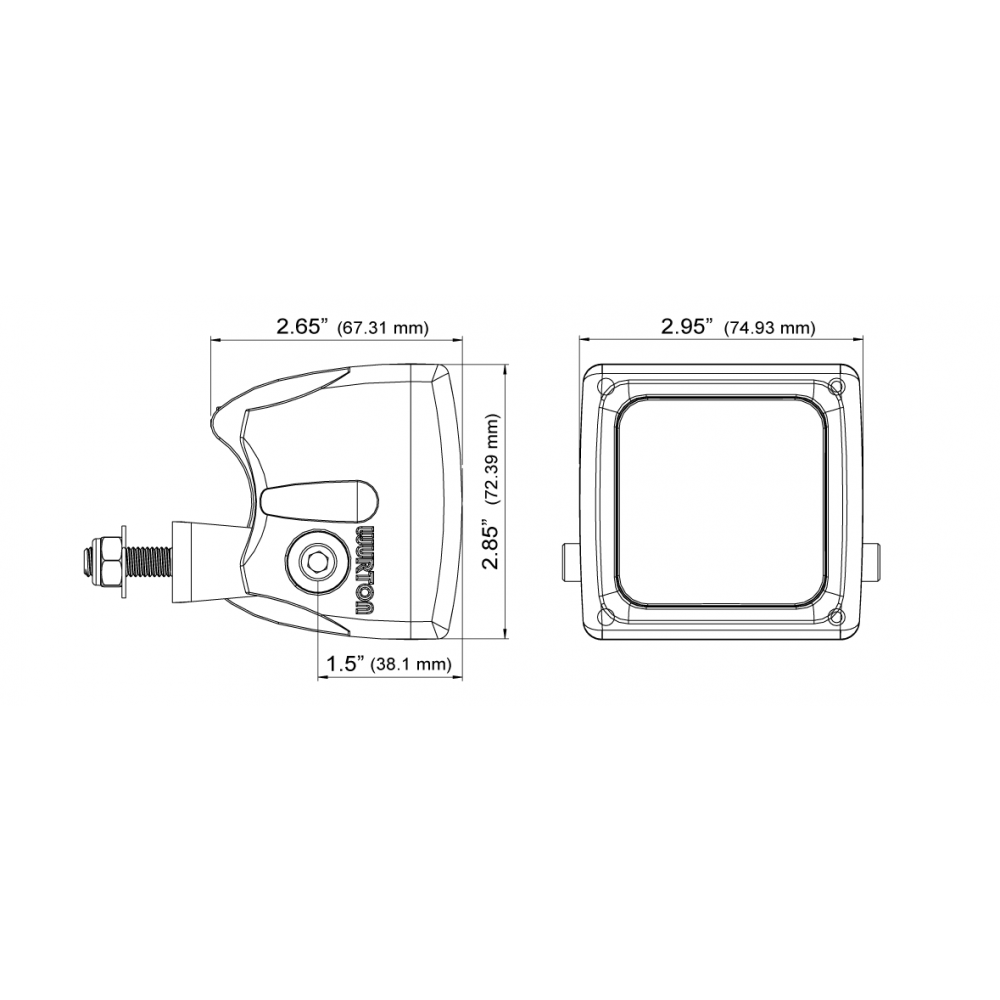 Wurton ® - 3 Inch 5 Watt Single Scout LED Flood Beam Cube Light (34042)