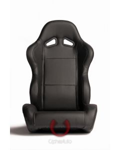 Cipher Auto ® - Black Leatherette Universal Racing Seats (CPA1001PBK)