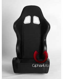 Cipher Auto ® - Black Cloth Universal Racing Seats (CPA1007FBK)