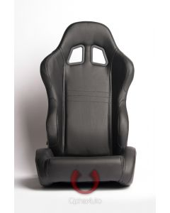 Cipher Auto ® - Black Leatherette Universal Racing Seats (CPA1007PBK)