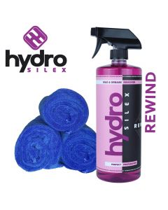 Hydrosilex 32 oz Rewind Aftercare Wax And Grease Remover Soap With 3 Microfiber Towels