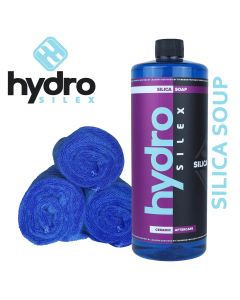Hydrosilex 32 oz Silica Soap Ceramic Coating, Wax And Grease Remover With 3 Microfiber Towels