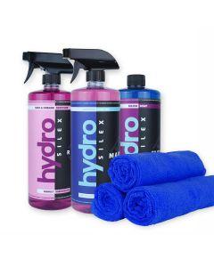 HydroSilex Marine 32 oz Kit Marine, Rewind, Silica Soap & 10 Microfiber Towels