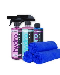 HydroSilex Starter 16 oz Kit Rewind, Recharge, Silica Soap & 10 Microfiber Towels